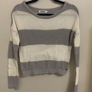 Garage Striped Sparkly Sweater